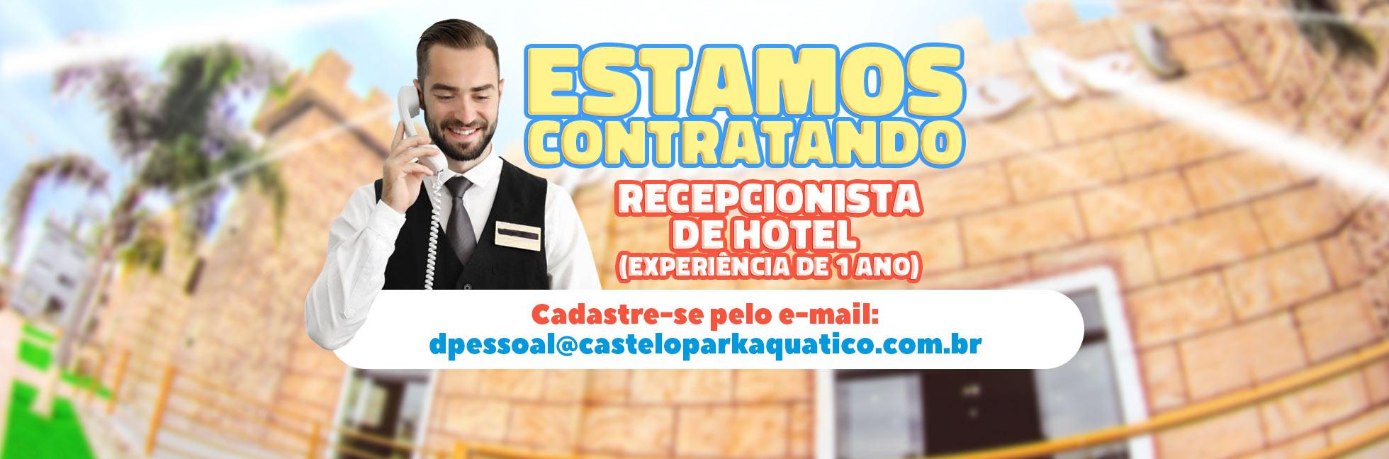 Vaga Recepcionista de Hotel